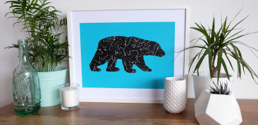 1 Bear Print - Turquoise